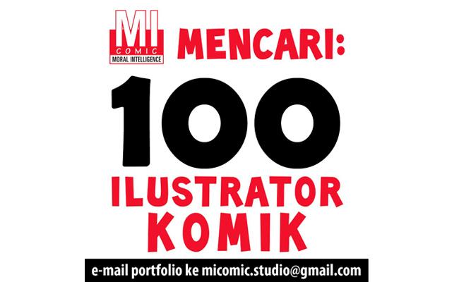 Dicari: 100 Ilustrator Komik!