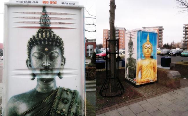 Aduh! Gambar Buddha Dipajang di Toilet Umum