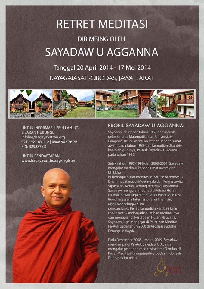 Retret Meditasi Sayadaw U Agganna