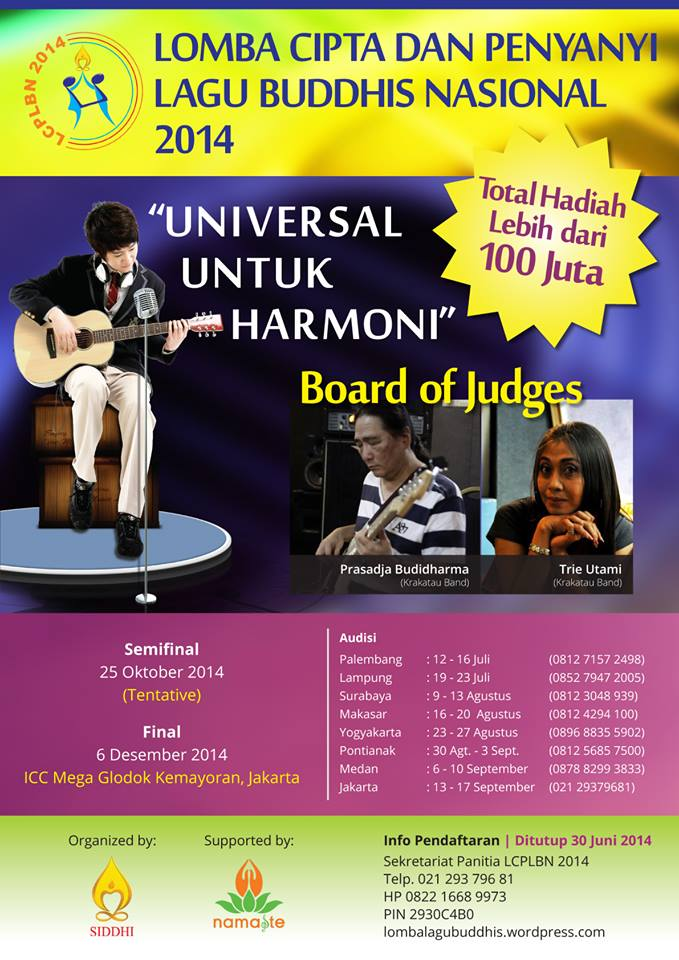 Lomba Cipta dan Penyanyi Lagu Buddhis Nasional 2014
