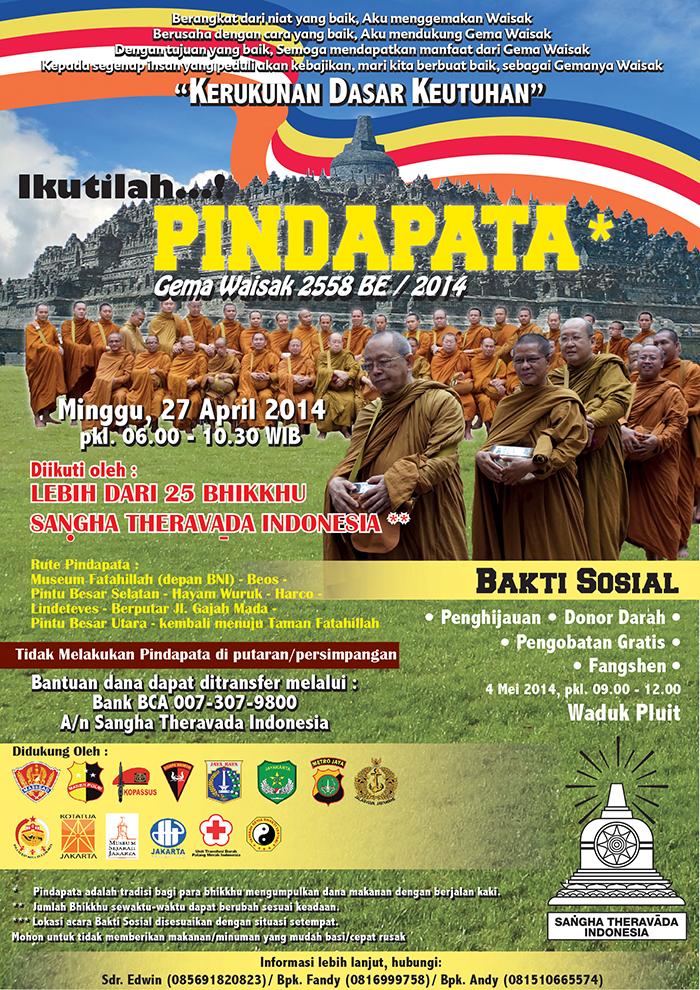 Pindapata Gema Waisak 2558 BE/2014