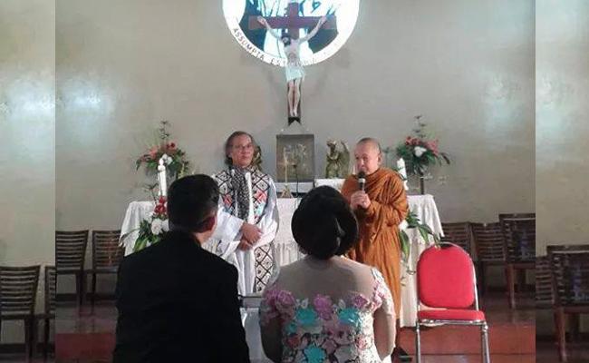 Indahnya Kebersamaan: Bhikkhu Pannyavaro Berikan Nasehat Perkawinan di Gereja