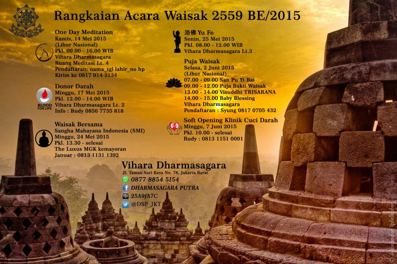 Waisak Vihara Dharmasagara 2559 BE/2015