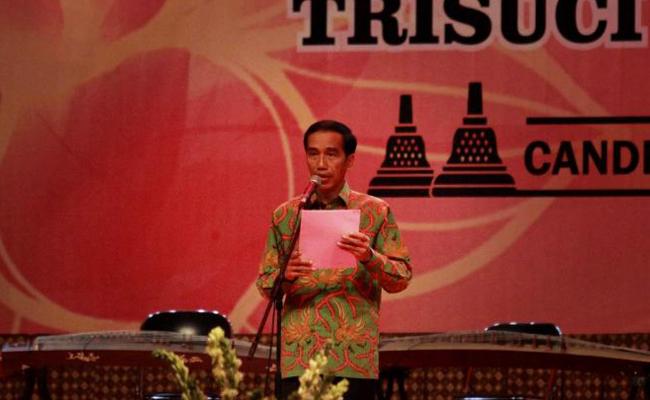 Pesan Jokowi di Perayaan Waisak Candi Borobudur
