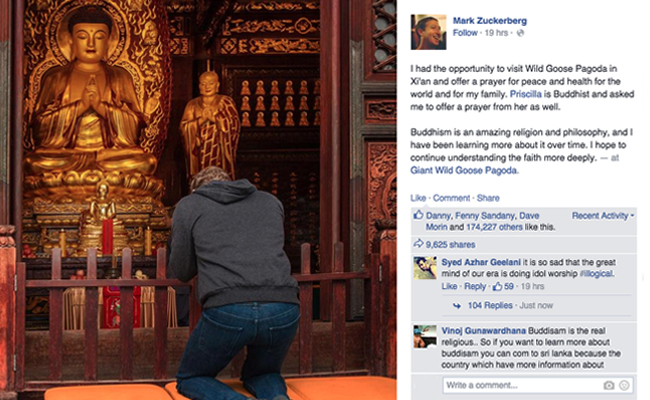 Mark Zuckerberg Mengagumi Buddhisme dan Berharap Bisa Mengenal Lebih Mendalam