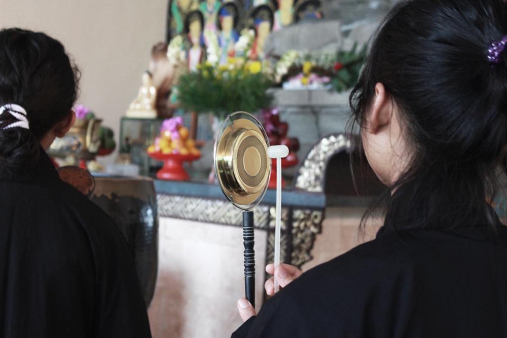 Tang ce, salah satu instrumen puja tradisi Mahayana