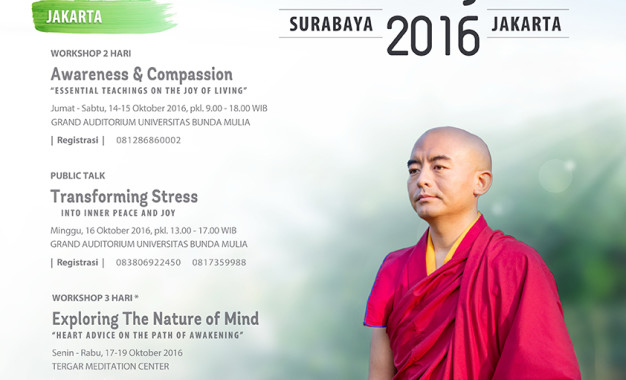 Yongey Mingyur Rinpoche's Teaching Tour 2016
