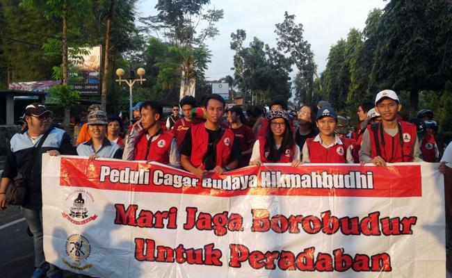 Gerakan Himpunan Mahasiswa Buddhis Indonesia Peduli Kelestarian Borobudur