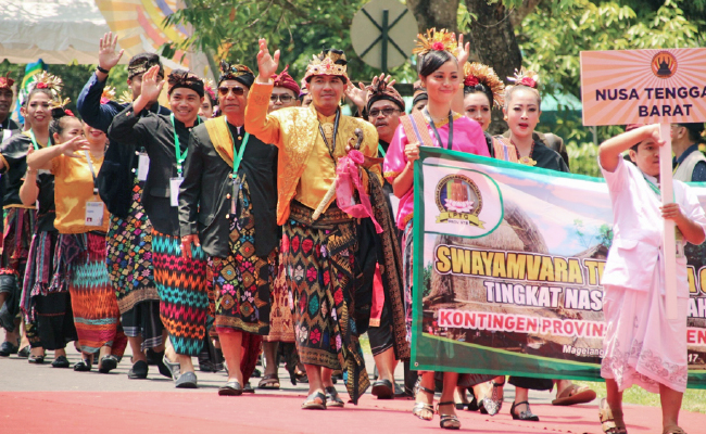 Warna-warni Indonesia dalam Pembukaan Swayamvara Tripitaka Gatha (STG) 2017
