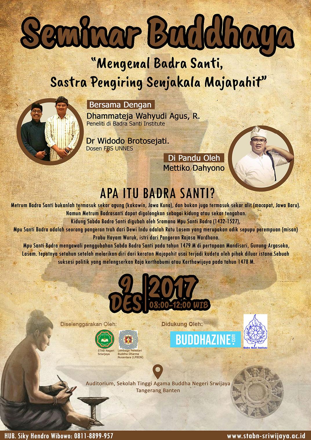 Mengenal Badra Santi, Sastra Pengiring Senjakala Majapahit