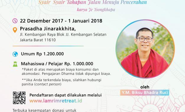 Memaknai Pergantian Tahun Bersama Indonesia Lamrim Retreat 2017