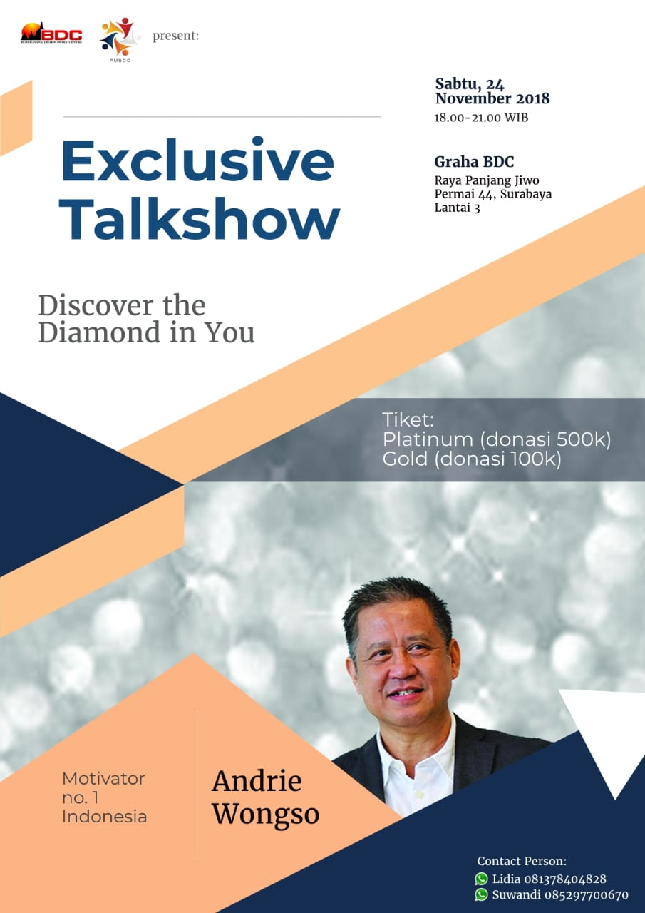 Andrie Wongso Exclusive Talkshow