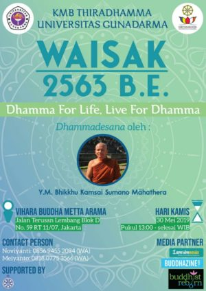 Dhamma for Life, Live for Dhamma