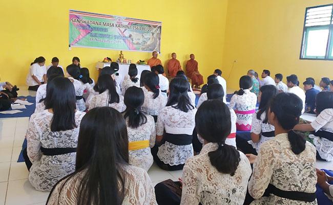 Perayaan Sanghadana di SMK Negeri 1 Tanjung, Lombok Utara