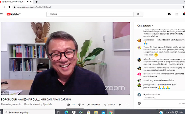 Webinar Borobudur Kawedhar Hari Pertama Diikuti Antusias Peserta
