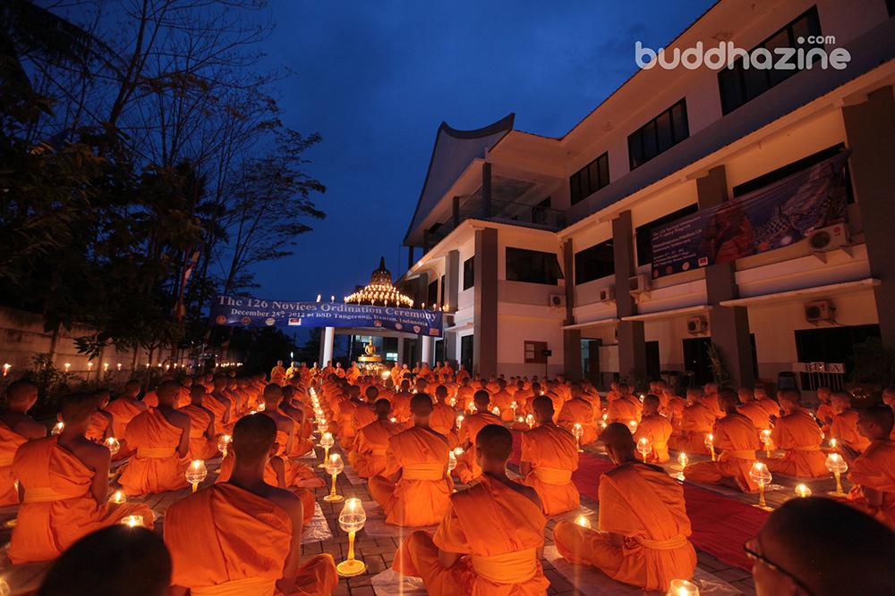 Pabajja Samanera Sementara STABN Sriwijaya dan Dhammakaya Foundation