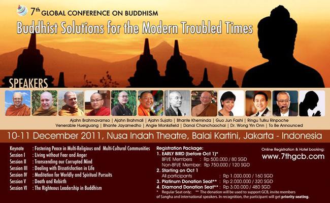 Jakarta Jadi Tuan Rumah Konferensi Global Buddhisme ke-7