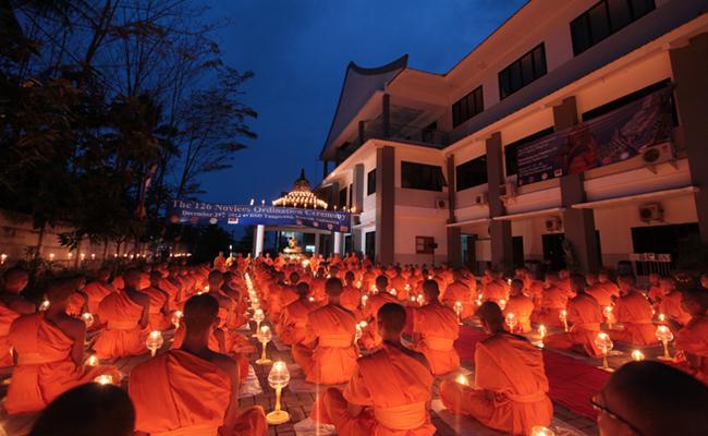 STABN Sriwijaya dan Dhammakaya Thailand Adakan Pabajja Samanera Sementara