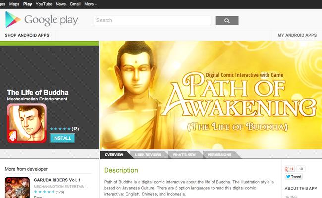 Komik Digital Kehidupan Buddha Buatan Indonesia Kini Hadir di Android dan iOS
