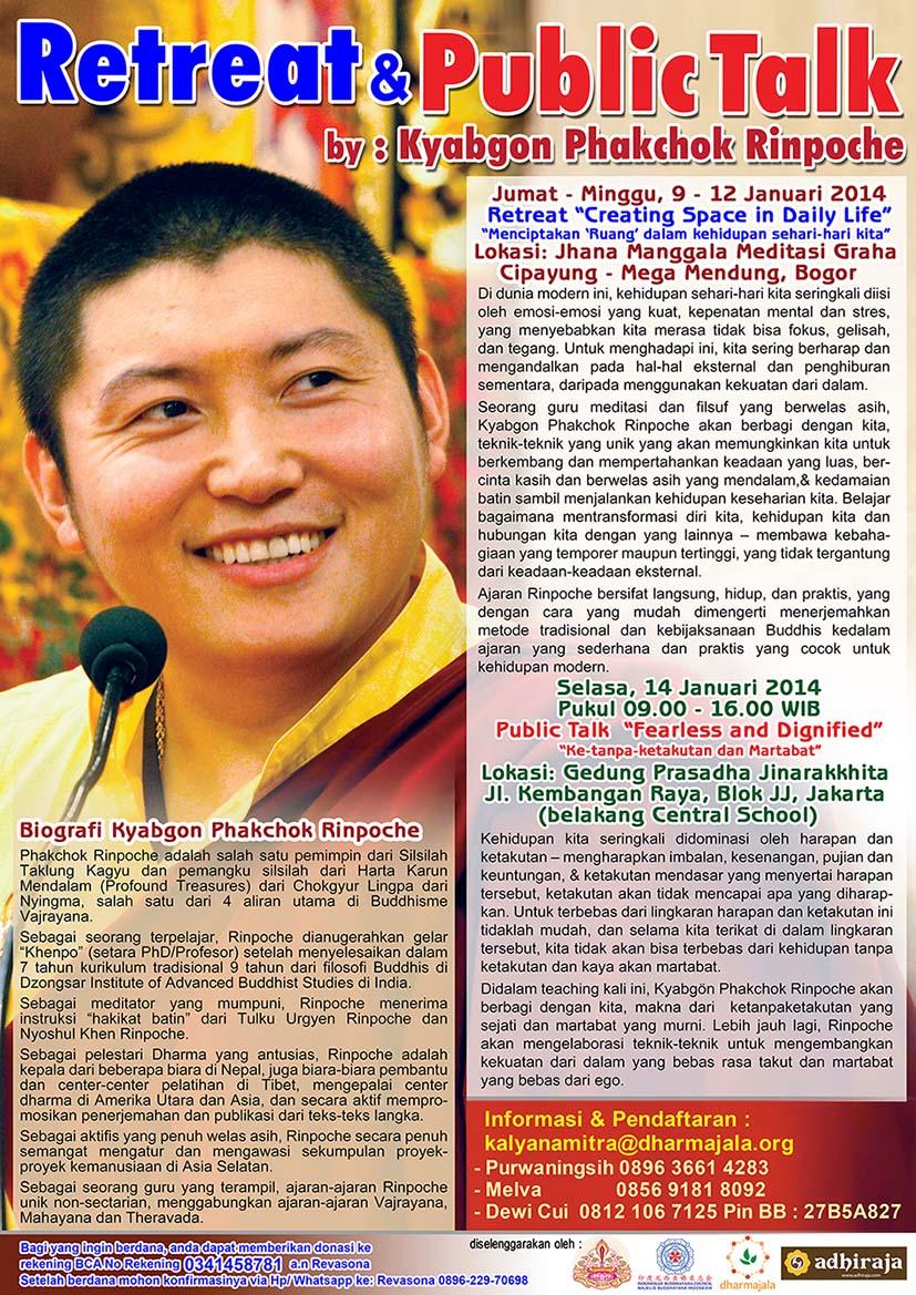 Retret & Public Talk Kyabgon Phakchok Rinpoche