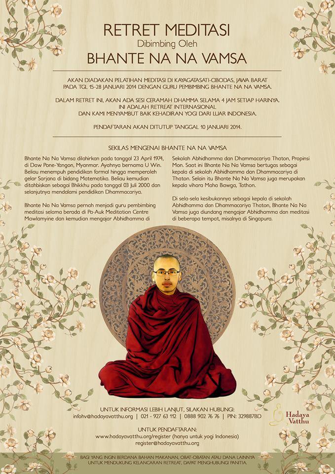 Retret Meditasi oleh Bhante Na Na Vamsa