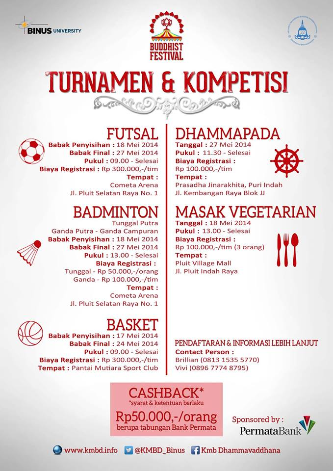 Buddhist Festival KMB Dhammavaddhana Universitas Bina Nusantara