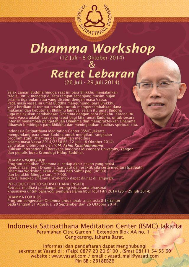 Dhamma Workshop dan Retret Lebaran Yasati