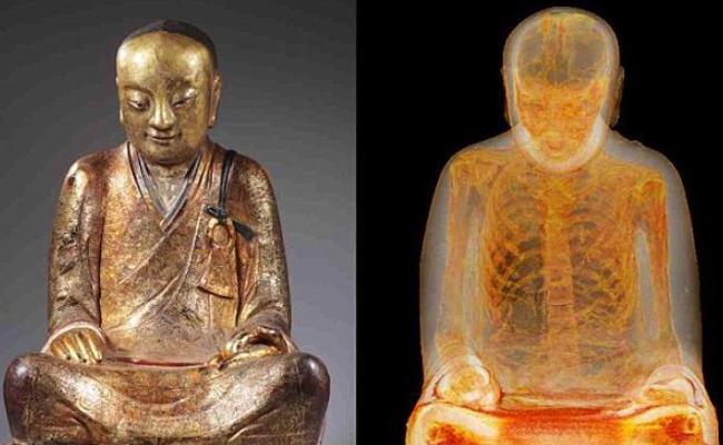 Patung Buddha Kuno Ini Berisi Mumi Bhiksu Berusia 1000 Tahun