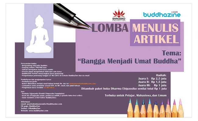 "Pemenang Lomba Menulis Artikel ""Bangga Menjadi Umat Buddha"""