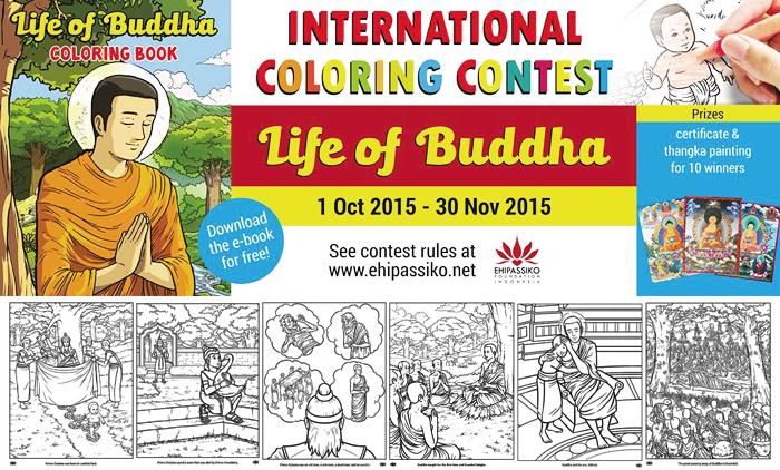Ayo Ikuti Lomba Mewarnai Riwayat Buddha!