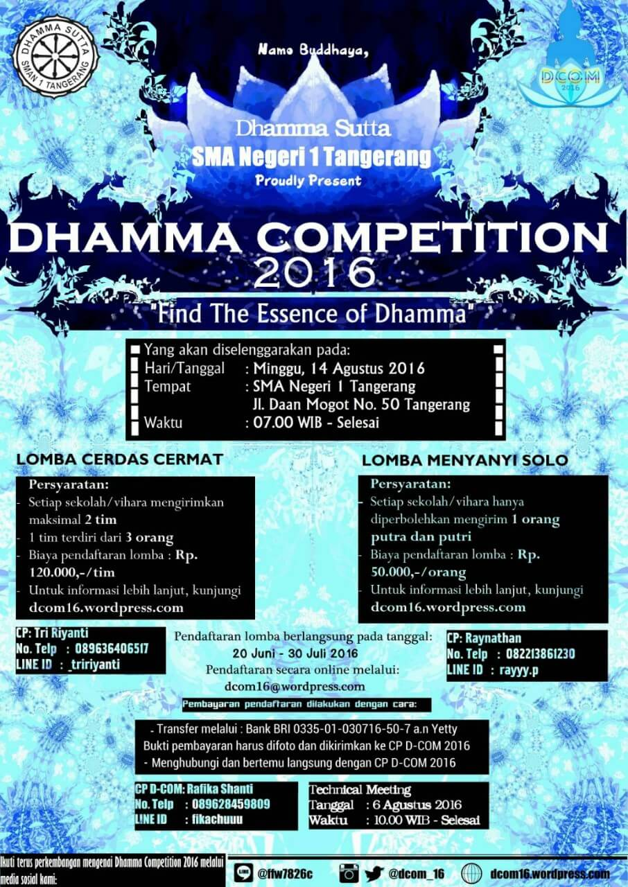 Dhamma Competition 2016
