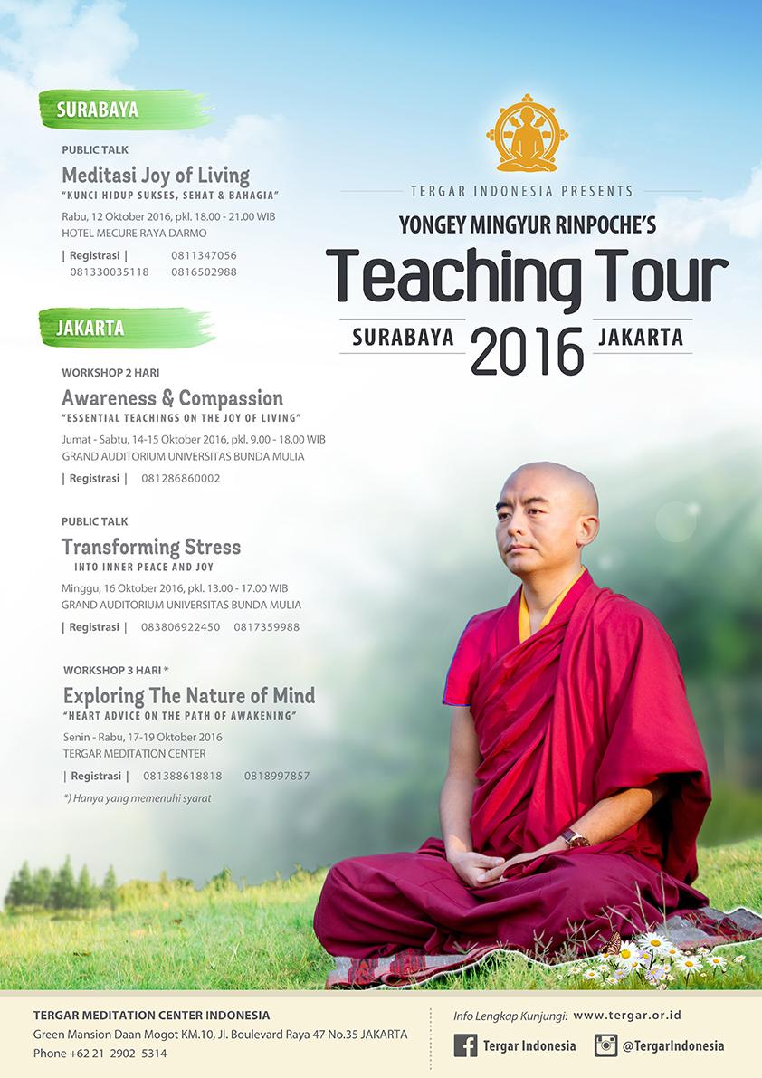 Yongey Mingyur Rinpoche's Teaching Tour 2016