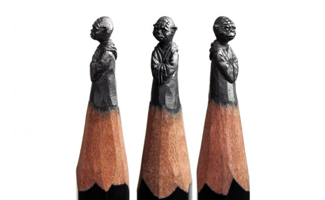 Salavat Fidai Kerap Lakukan Meditasi sebelum Mengukir Pensil