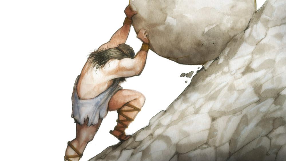 Sisyphus, Bodhisattwa Teladan Penuh Suka Cita