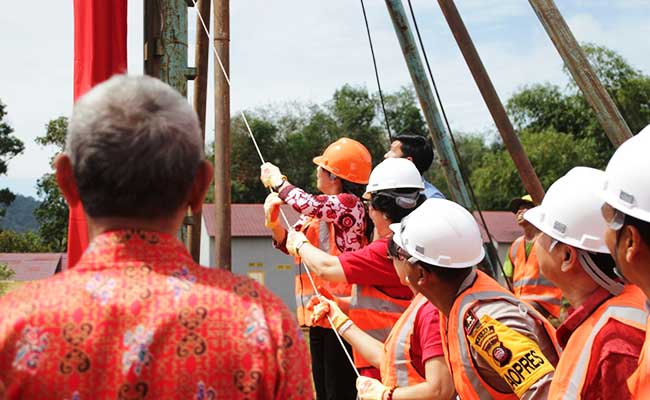 Pemancangan Tiang Sekolah Buddhis Asoka, Singkawang