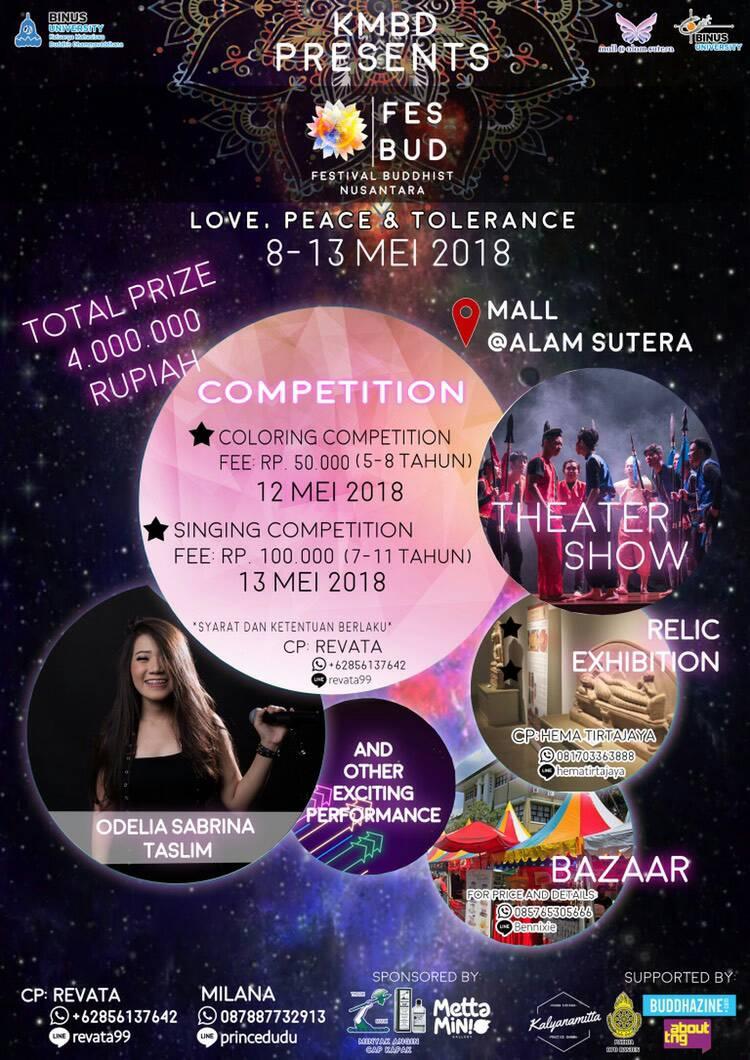 "Festival Buddhis Nusantara: ""Love, Peace, and Tolerance"""