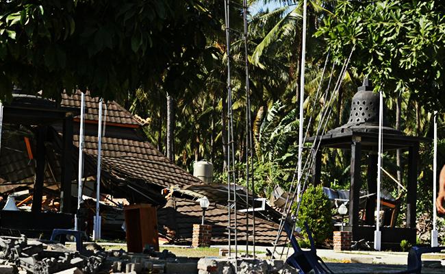 Gempa Lombok Menyisakan Trauma, Vihara dan Rumah Umat Buddha Hancur
