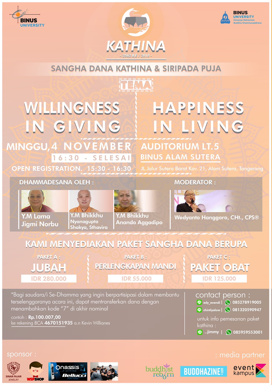 Willingness in Giving, Happiness in Living