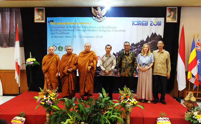Perhelatan The 2nd International Conference Innovation in Religious Education and Buddhism (ICIREB) 2018 Dibuka