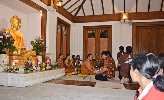 Bhikkhu Jayasilo Merayakan Magha Puja di Klaten, Jawa Tengah