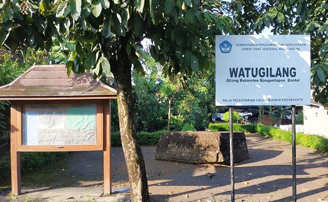 Watu Gilang, Situs Monolith Berelief di Kawasan Jogja