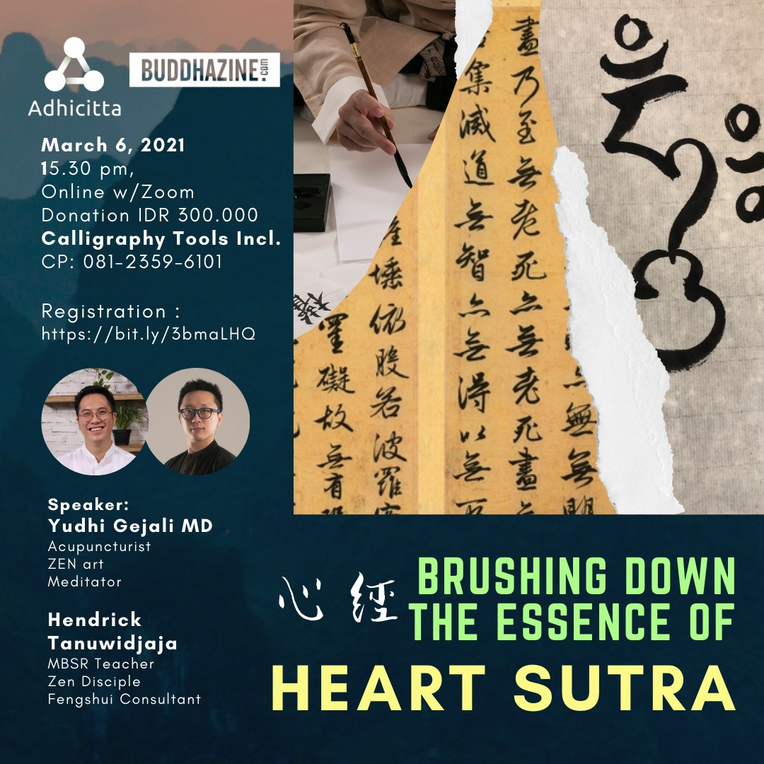 Brushing Down The Essence of Heart Sutra