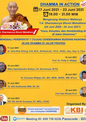 Mengenang Setahun Wafatnya  Y.A Dharmasurya Bhumi Mahathera