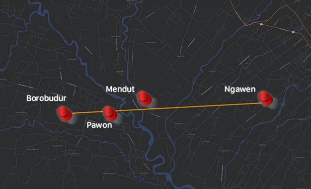 Satu Kesatuan Candi Ngawen-Mendut-Pawon-Borobudur