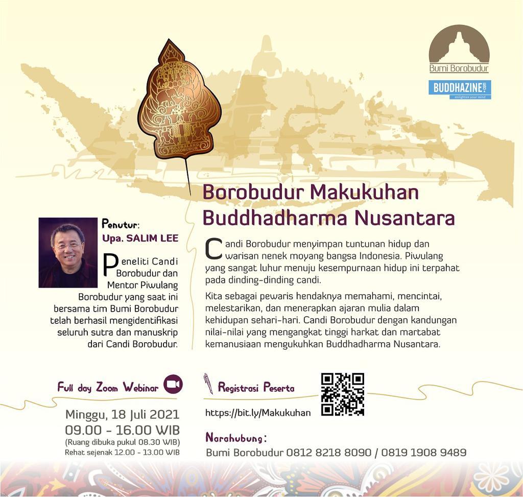 Webinar : Borobudur Makukuhan Buddhadharma Nusantara