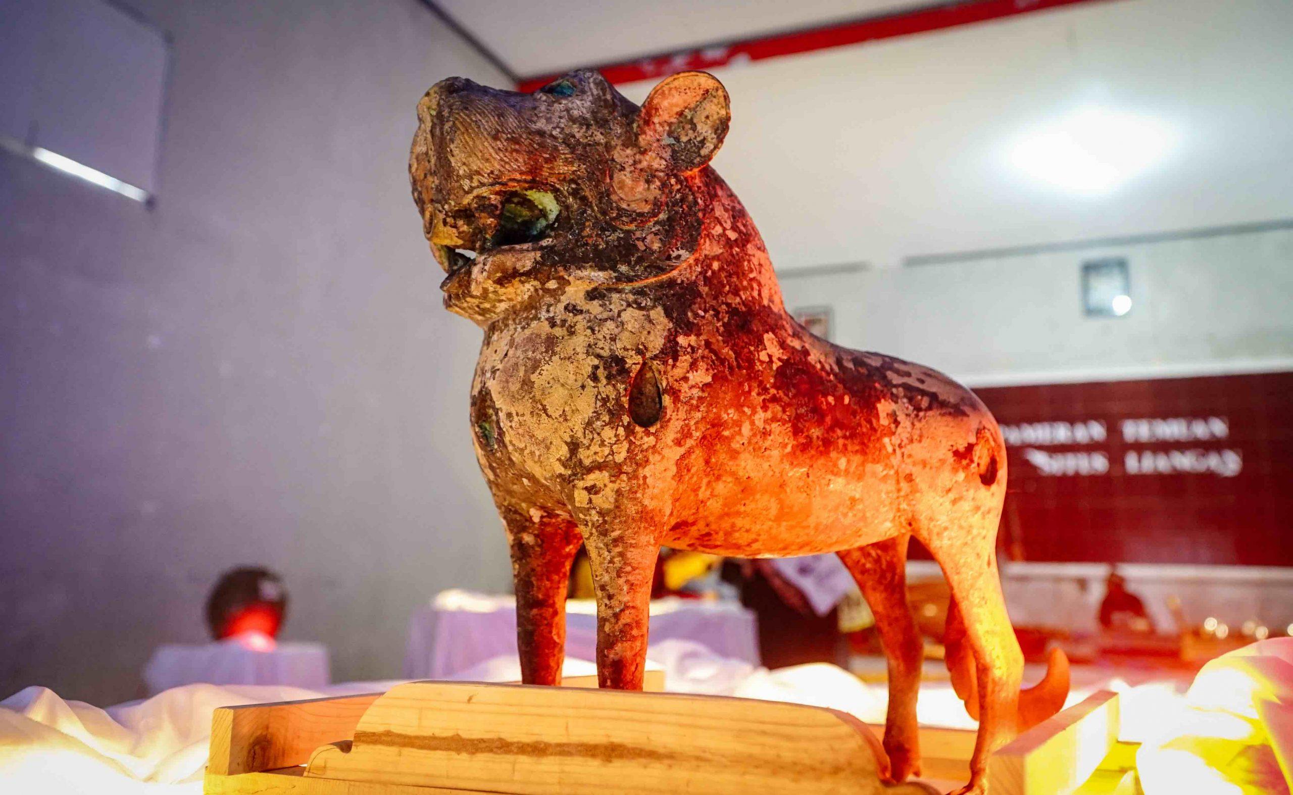 Arca Singa, Temuan Istimewa Pada Pameran Situs Liyangan