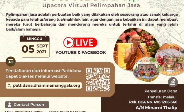 Upacara Virtual Pelimpahan Jasa Cetiya Dhamma Manggala