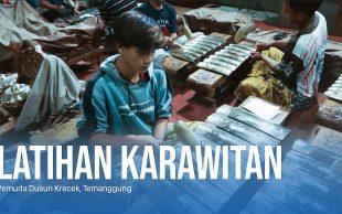 Latihan Karawitan Pemuda Dusun Krecek, Temanggung